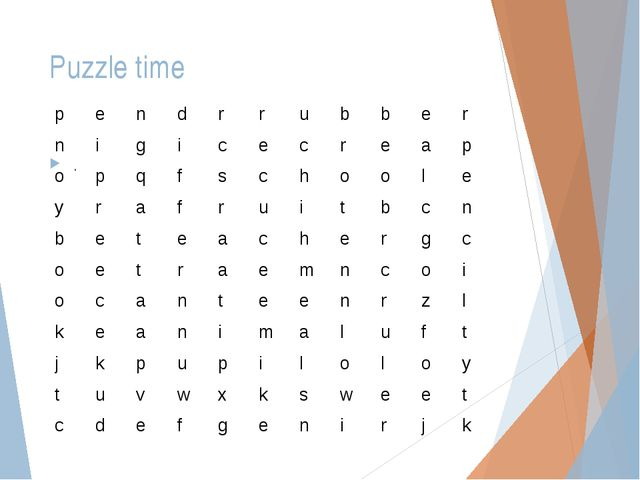 Puzzle time . pendrrubber nigicecreap opqfschool...