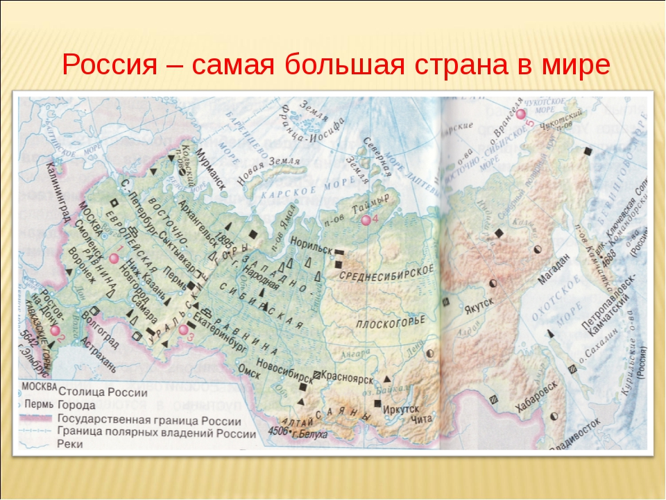 Россия – самая большая страна в мире
