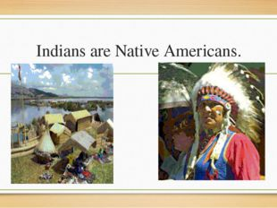 Indians are Native Americans.