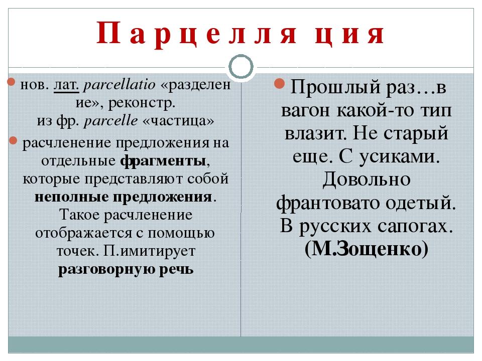 П а р ц е л л я′ ц и я нов.лат.parcellatio«разделение», реконстр. изфр.p...