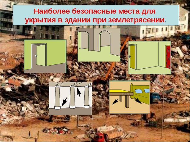 Наиболее безопасные места для укрытия в здании при землетрясении.