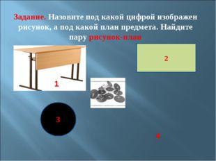 2 3 Задание. Назовите под какой цифрой изображен рисунок, а под какой план пр