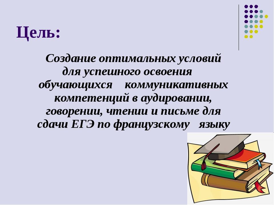 Цель: Создание оптимальных условий для успешного освоения обучающихся коммуни...