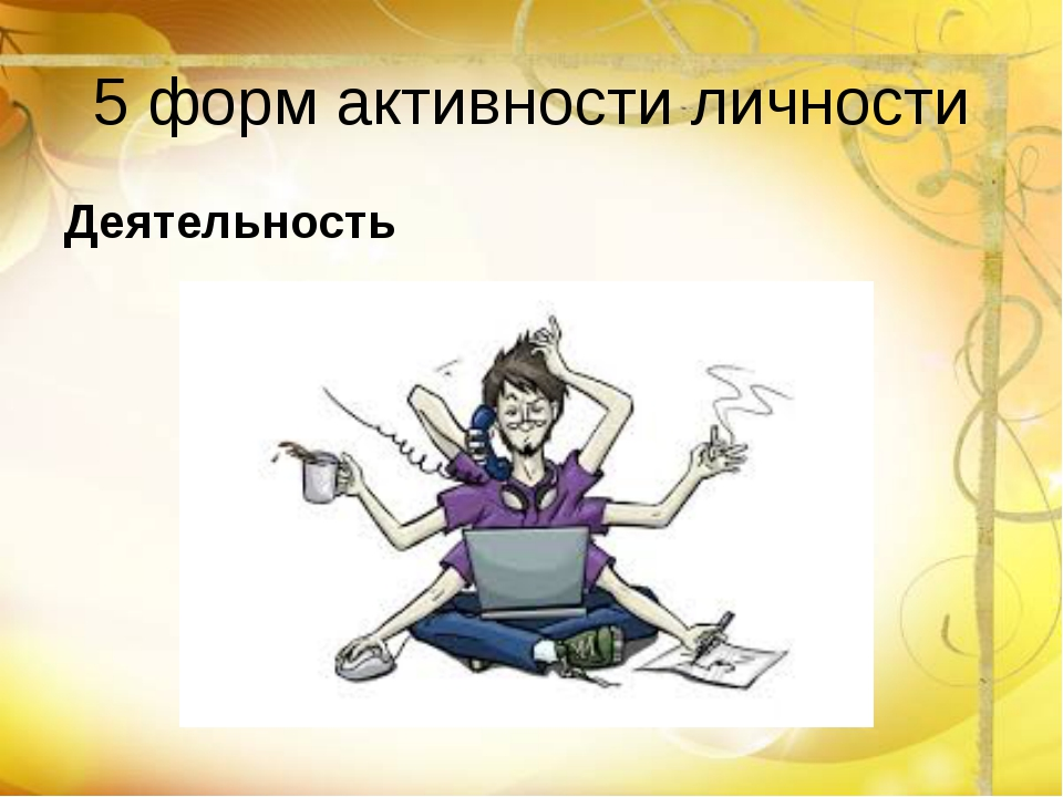 5 форм активности личности Деятельность