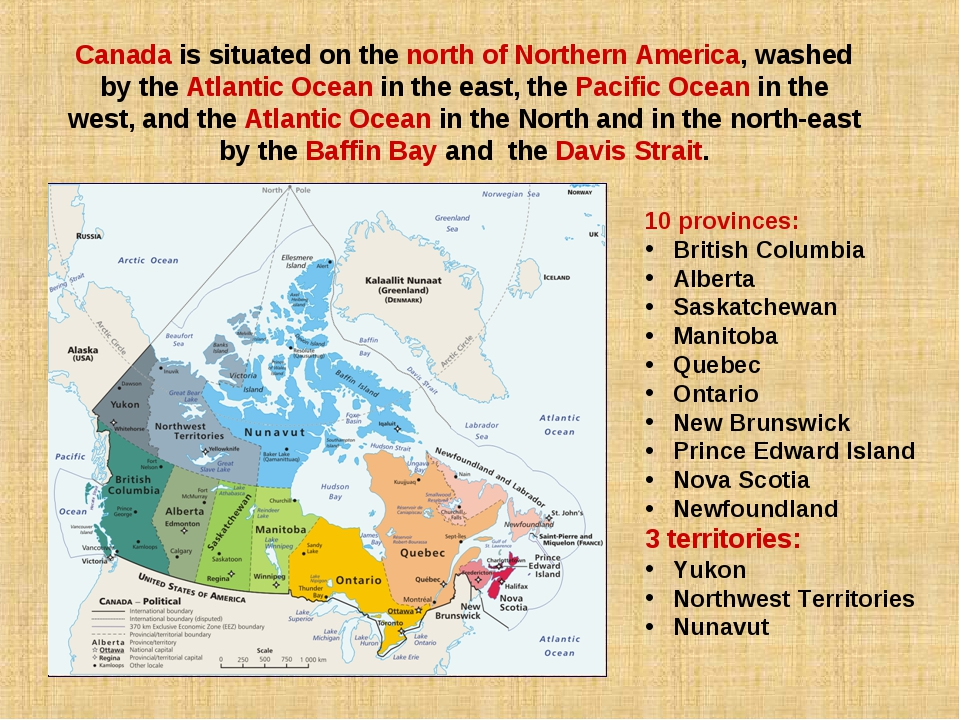 Canada is situated on the north of Northern America, washed by the Atlantic O...