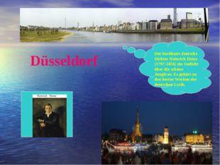 Düsseldorf Der berühmte deutsche Dichter Heinrich Heine (1797-1856) ein Gedic