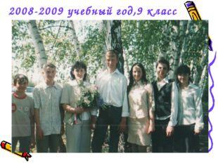 2008-2009 учебный год,9 класс