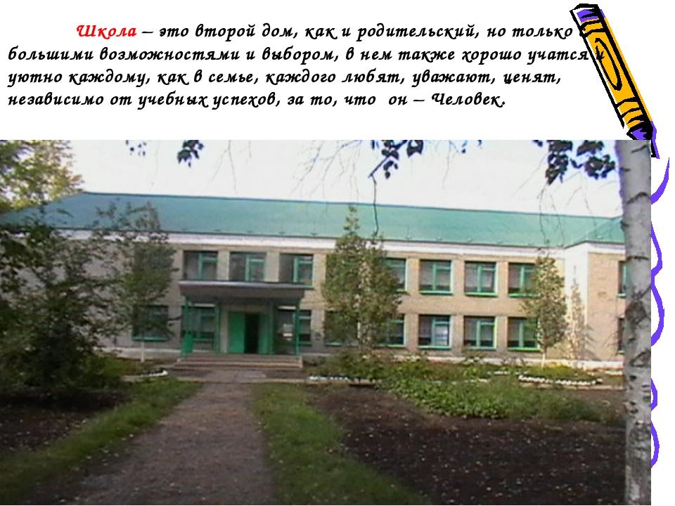 Школа – это второй дом, как и родительский, но только с большими возможностя...