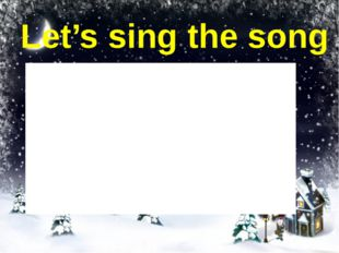Let's sing the song