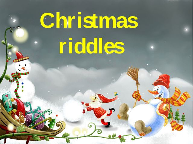 Christmas riddles