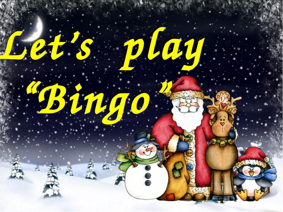 """Let's play """"Bingo"""""""
