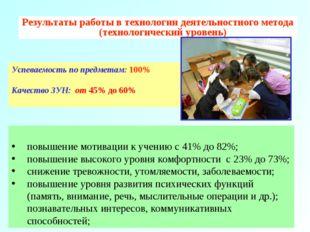 Результаты работы по учебникам математики «Школа 2000…» Успеваемость по предм