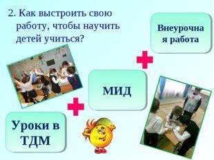 2. Как выстроить свою работу, чтобы научить детей учиться? Уроки в ТДМ МИД Вн