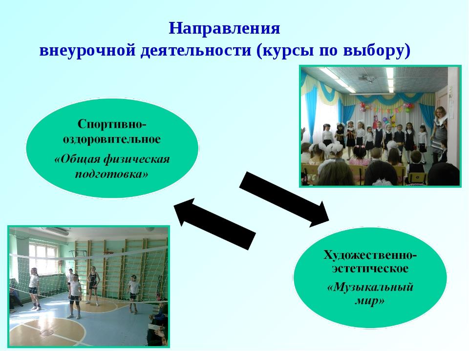 Направления внеурочной деятельности (курсы по выбору)