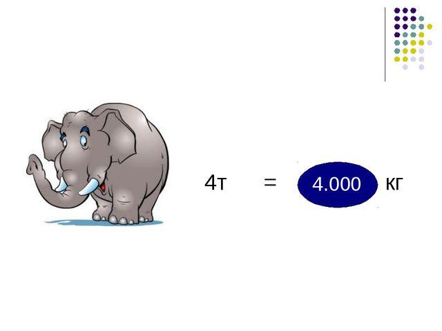 4т = кг 4.000