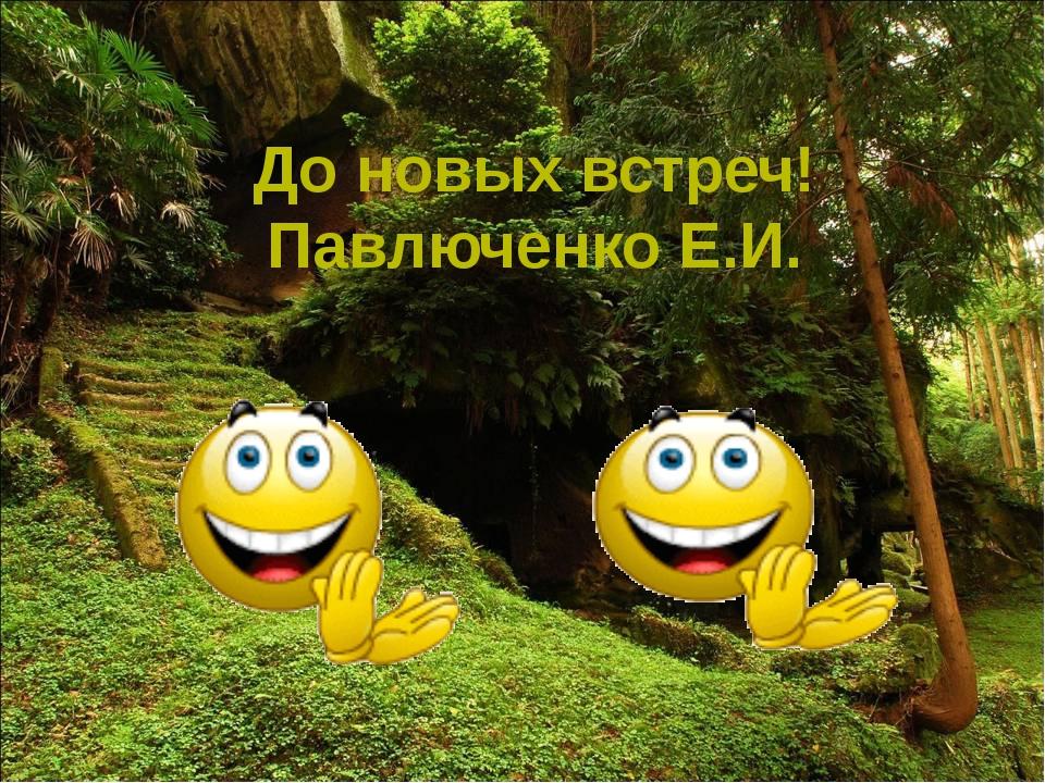 Белозёрова Т.В. До новых встреч! Павлюченко Е.И.