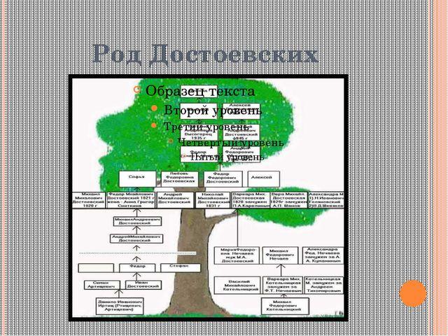Род Достоевских