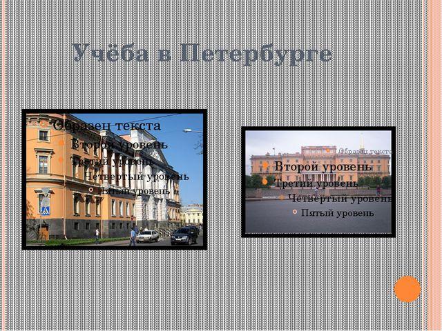 Учёба в Петербурге