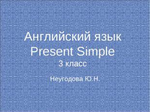 Английский язык Present Simple 3 класс Неугодова Ю.Н.
