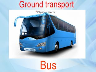 Bus Ground transport