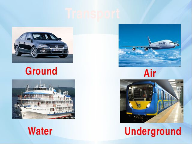Transport Underground Air Ground Water