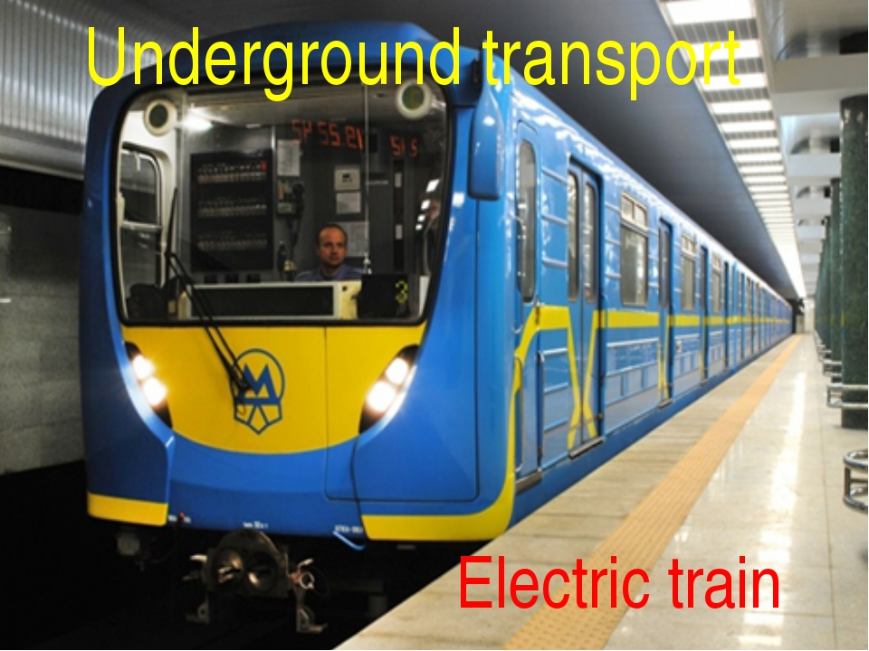 Underground transport Electric train