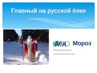 Главный на русской ёлке __________ ____________ Дед Мороз
