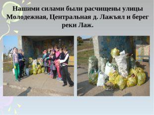 Нашими силами были расчищены улицы Молодежная, Центральная д. Лажъял и берег
