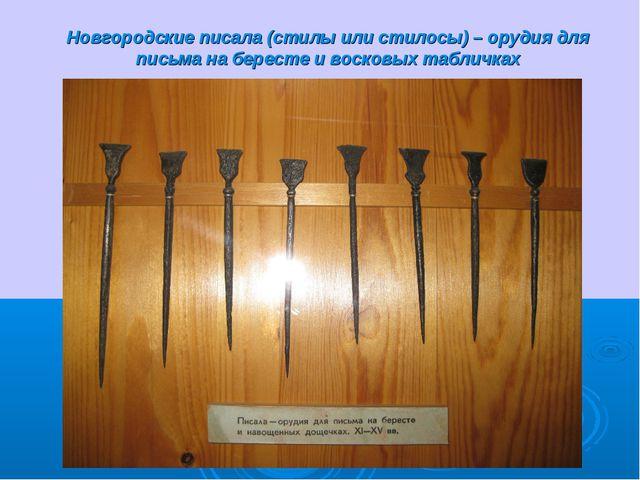 Новгородские писала (стилы или стилосы) – орудия для письма на бересте и воск...