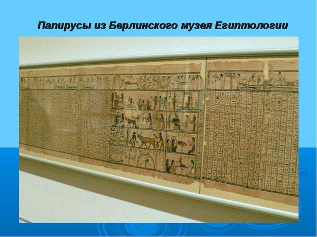 Папирусы из Берлинского музея Египтологии
