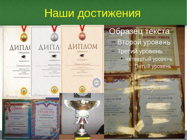 Наши достижения Учащиеся школы неоднократные победители и призёры районных со...