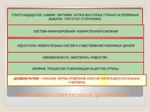 ПРОБЛЕМЫ СОВРЕМЕННОЙ ДЕМОКРАТИИ ОТБОР КАНДИДАТОВ САМИМИ ПАРТИЯМИ, ХОТЯ В НЕК