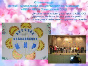 Страна чудес Детско - молодёжная общественная организация «МИР» МБОУ Углегор