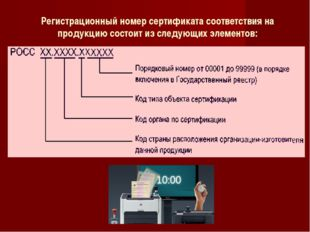 Регистрационный номер сертификата соответствия на продукцию состоит из следую