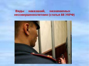 Виды наказаний, назначаемых&n