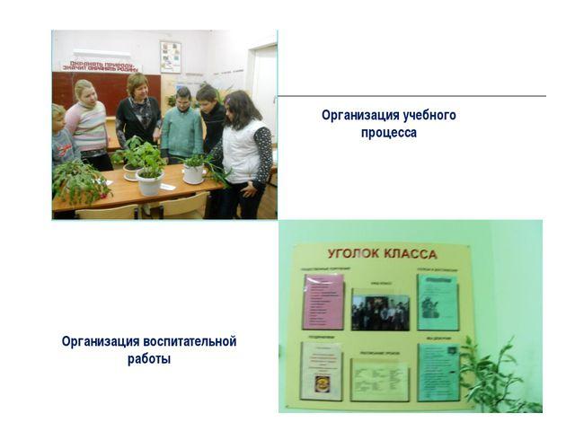 Организация учебного процесса Организация воспитательной работы