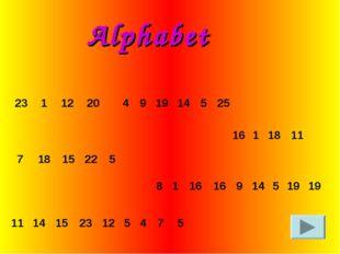 Alphabet 81161691451919
