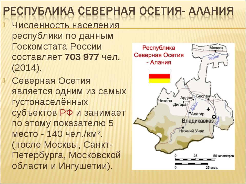 Численность населения республики по данным Госкомстата России составляет 703...