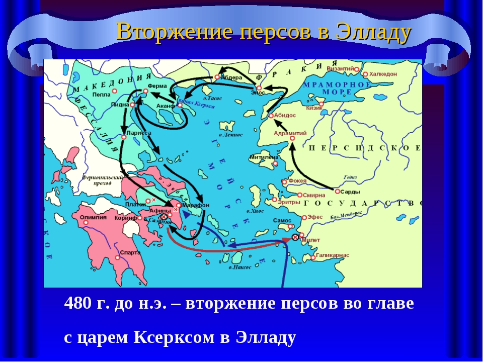 Вторжение персов в Элладу 480 г. до н.э. – вторжение персов во главе с царем...
