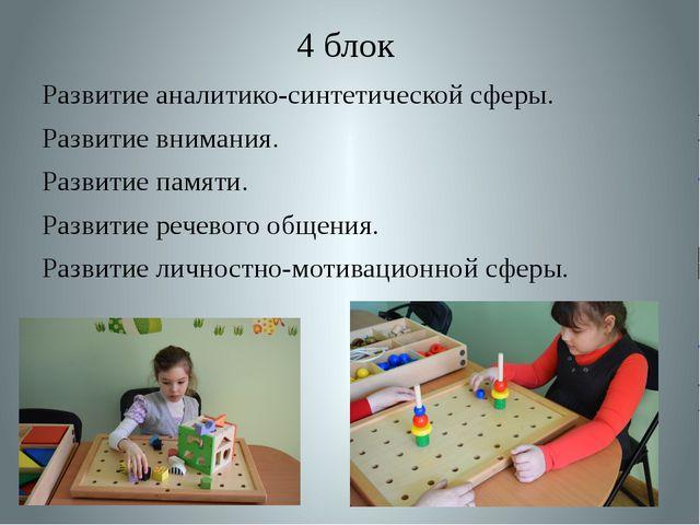 4 блок Развитие аналитико-синтетической сферы. Развитие внимания. Развитие па...