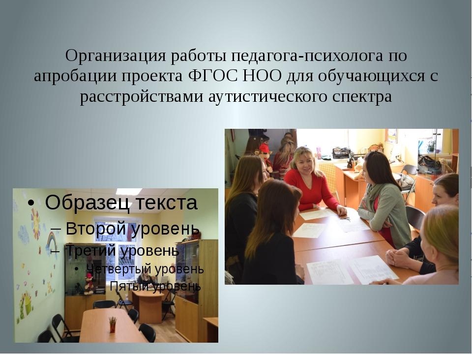 Организация работы педагога-психолога по апробации проекта ФГОС НОО для обуча...