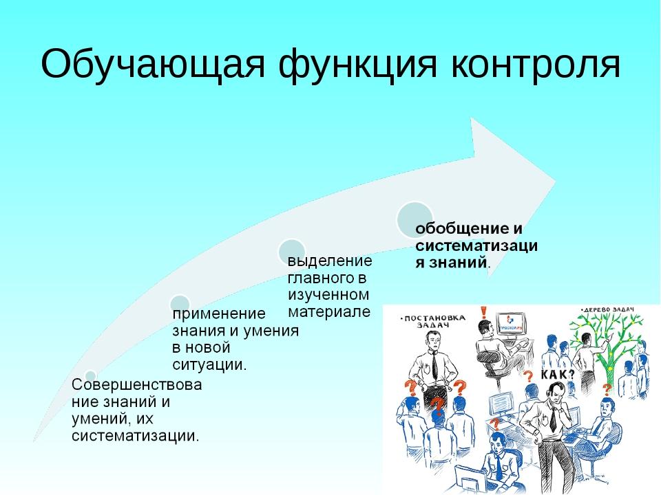 Обучающая функция контроля
