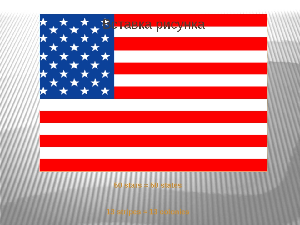 50 stars = 50 states 13 stripes = 13 colonies