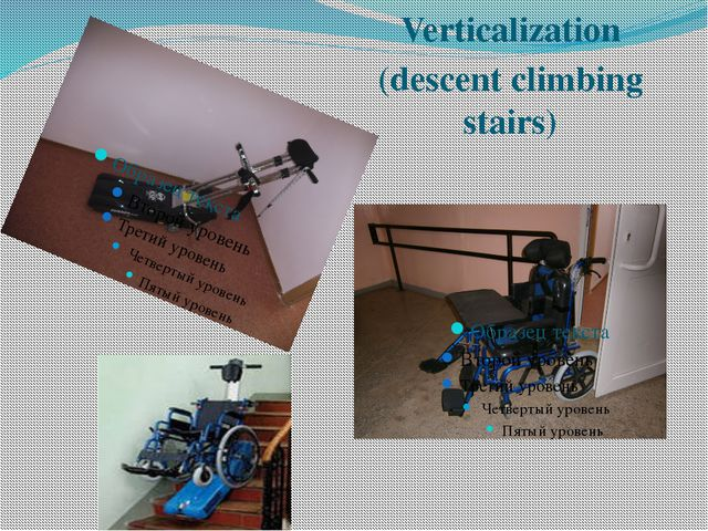 Verticalization (descent climbing stairs)