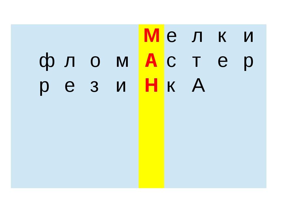 М е л к и ф л о м А с т е р р е з и Н к А