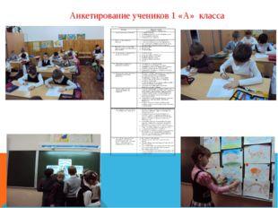 Анкетирование учеников 1 «А» класса