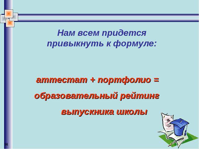 Нам всем придется привыкнуть к формуле: аттестат + портфолио = образовательн...