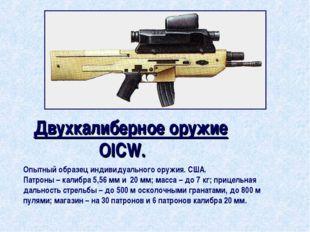 Двухкалиберное оружие OICW. Опытный образец индивидуального оружия. США. Патр
