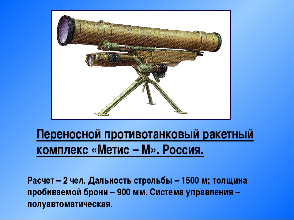 Переносной противотанковый ракетный комплекс «Метис – М». Россия. Расчет – 2...