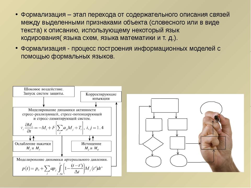 Формализация – этап перехода от содержательного описания связей между выделен...